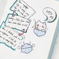 45pcsbox cute cat stationery stickers sealing label travel sticker diy scrapbooking diary planner albums decorations