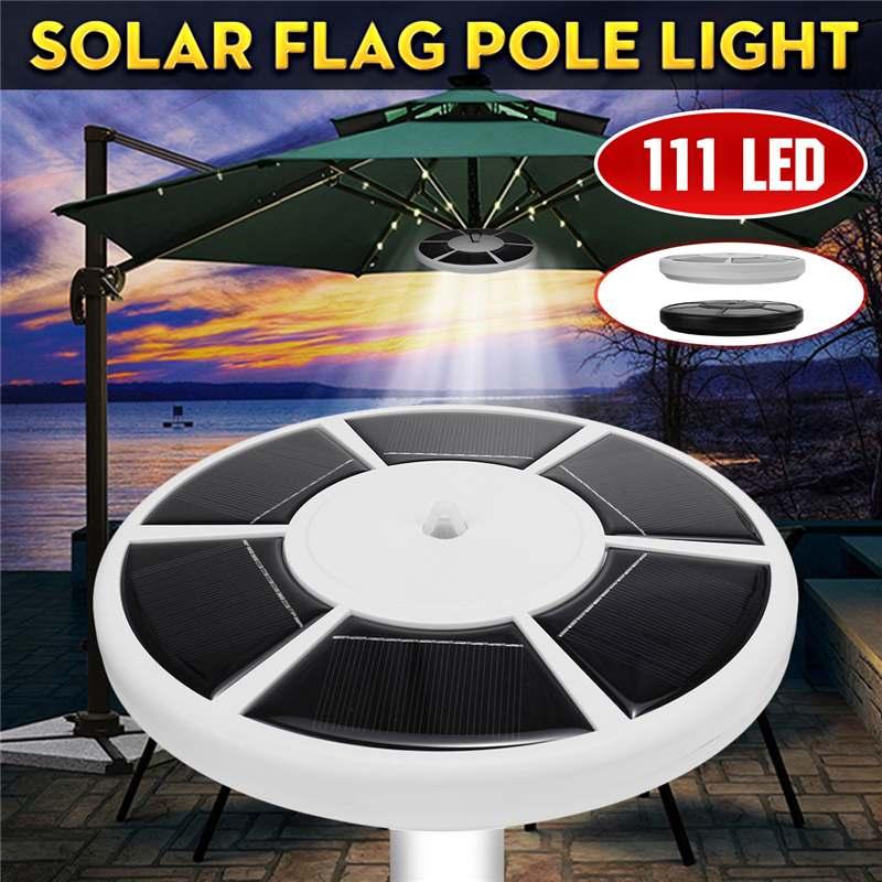 Наружный светильник 111 LED Солнечный флаг Полюс огни водонепроницаемый флагшток лампа Солнечный зонтик свет светильник освещение