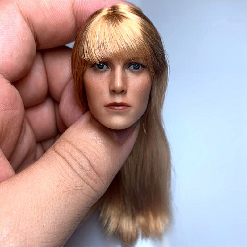 In Stock 1/6 Gwyneth Paltrow Head Sculpt Golden Hair Female Head Carving Fit 12'' Action Figure Body in stock gc018 1 6 scale beauty european girl head sculpt ivanka trump head carving toy 4 styles for 1 6 female action figure