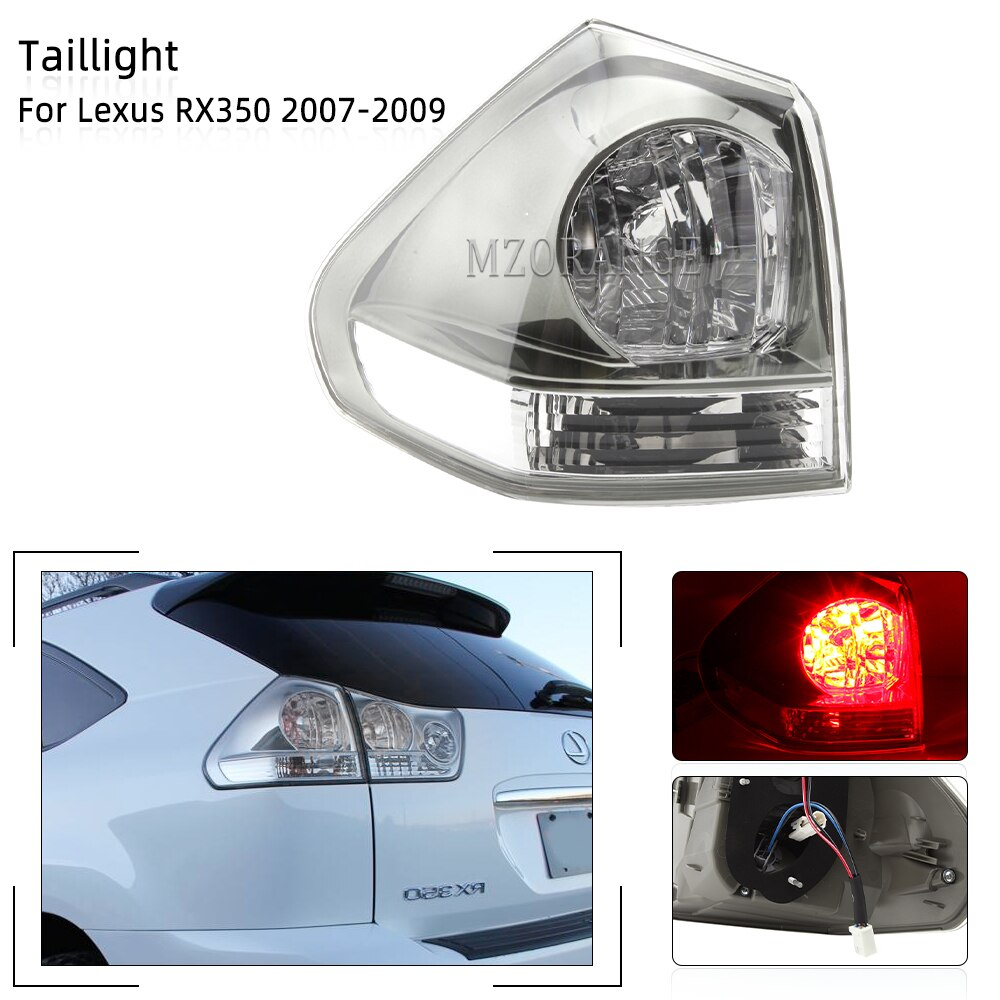 MZORANGE Outside Rear Brake Light For Lexus RX350 2007 2008 2009 Tail Stop Signal Lamp Car Assembly High Quality