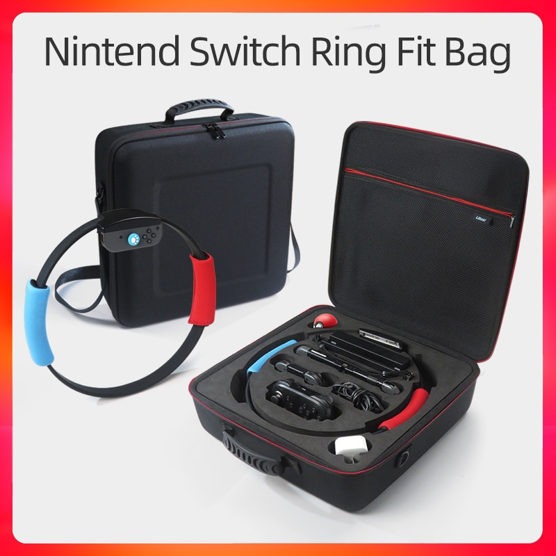 Чехол для Nintendo Switch Ring Fit Bag EVA, защитный чехол для Nintendo Switch Accessories, чехол с кольцом для переноски, противоударный чехол чехол