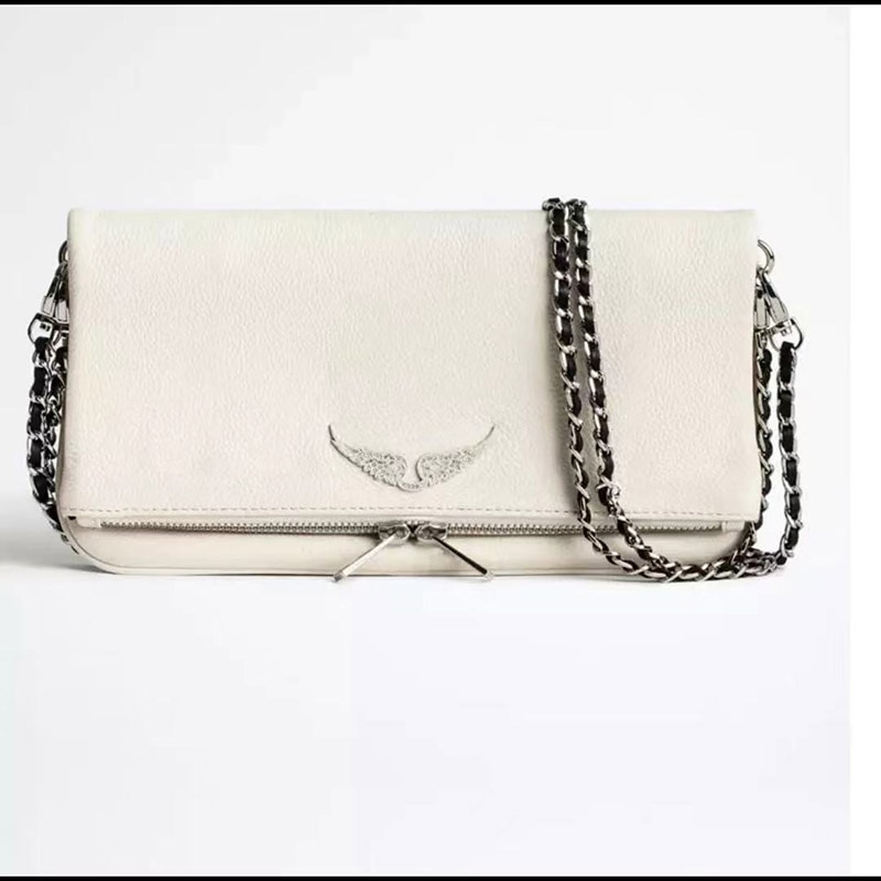 Summer Classic High-Quality Women's Genuine Leather One-Shoulder Bag Fashion Personality Wing Decora