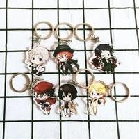 creative anime bungou straydogs atsushi acrylic keychain bag accessories cartoon cute keyrings students birthdaygifts key chains