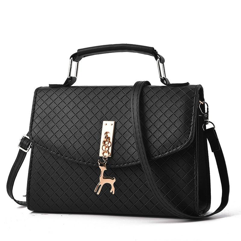 Women's Shoulder Bag Women Messenger Bags Leather Flap Plaid Hard Crossbody Bags for Women Bag Female Handbags Bolsa Feminina