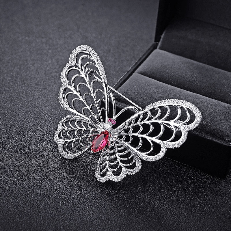 High end jewelry Austrian Crystal butterfly Brooch for women evenging dress