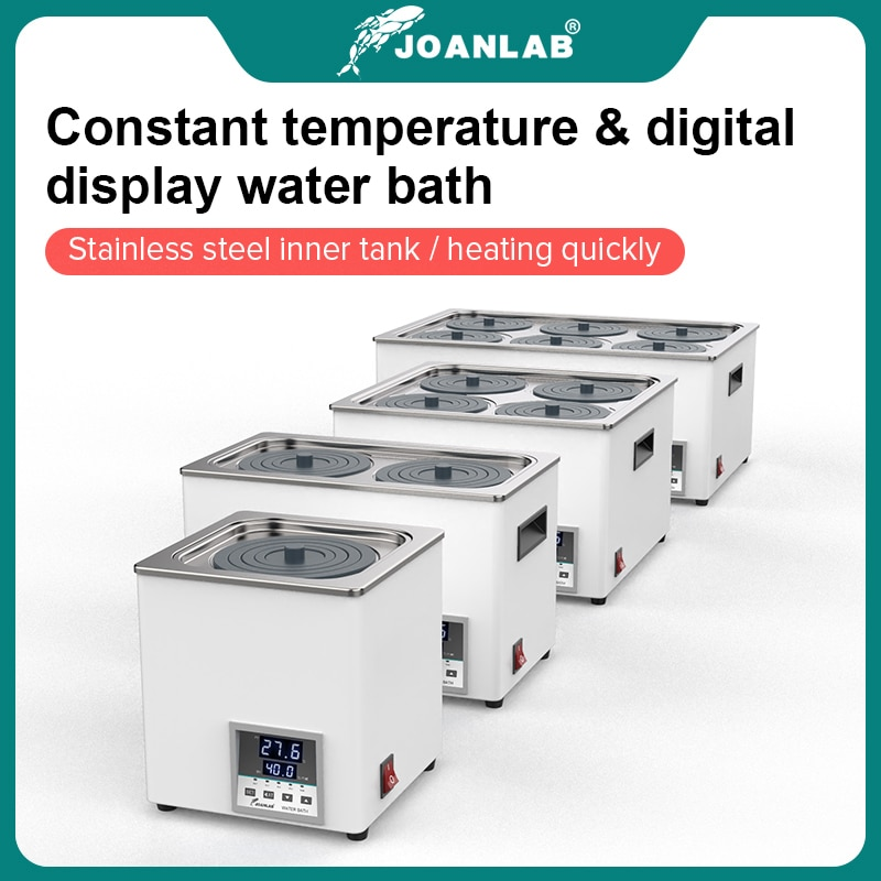 10l lab heating circulator with sus 304 water oil bath with digital display for heating laboratory equipment JOANLAB Laboratory Water Bath Constant Temperature LCD Digital Display Lab Equipment Thermostat Tank 6 4 2 1 Single Hole 220v
