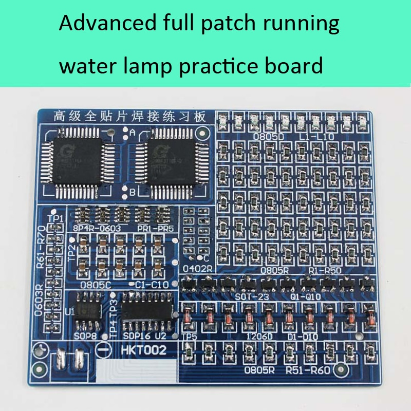 Spare Parts Advanced Full-Chip Soldering Practice Board Electronic Components DIY Production Kit