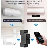 Disjoncteur de commande a distance WiFi Tuya 1P 18mm  commutateur din rail intelligent compatible avec Alexa et google home pour maison intelligente