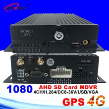 HYFMDVR GPS 4G AHD   DVR Mobile 4ch 1080P/AHD 960P/AHD 720P mégapixels