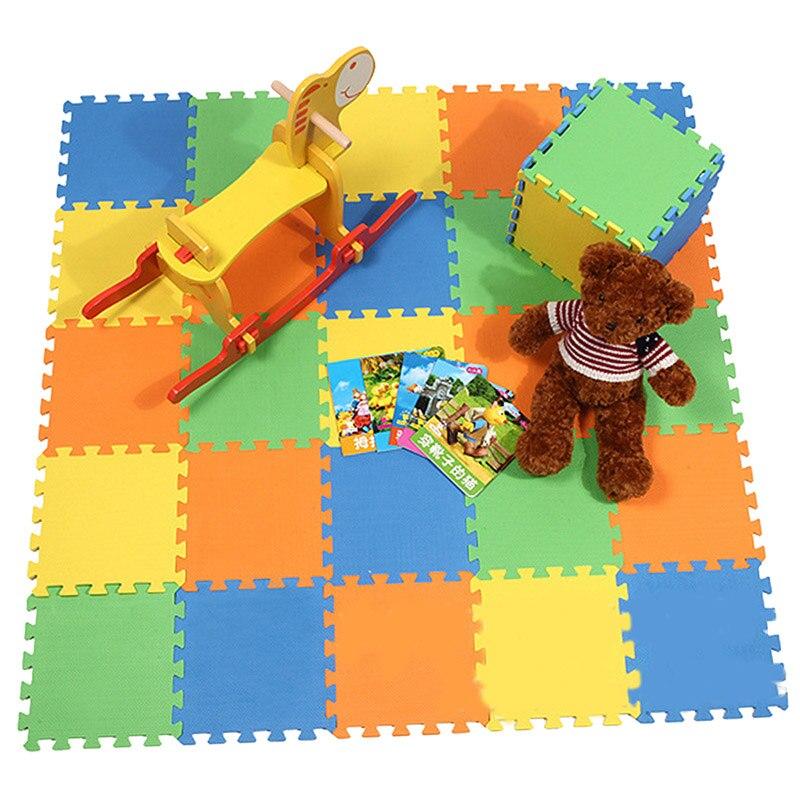 الطفل تلعب حصيرة 24 قطعة/المجموعة الطفل رغوة Clawling الحصير لغز لعب للأطفال الطابق حصيرة عدد إلكتروني الأطفال السجاد