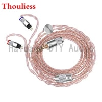 thouliess hifi copper silver plated mixed 0 78mm headphone upgrade cable for w4r um3x 1964 heir 10 a iem8 0 iem10 0