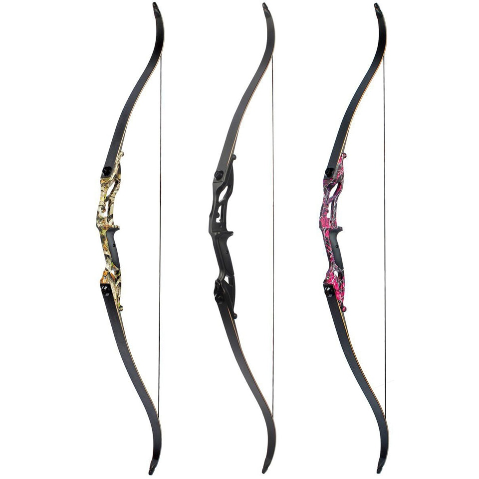 JUNXING 56 inches American Hunting Bow 30-50lbs Draw Weight FPS170-190 Recurve Bow Hunting Archery Bow Accessory F179 Fitness