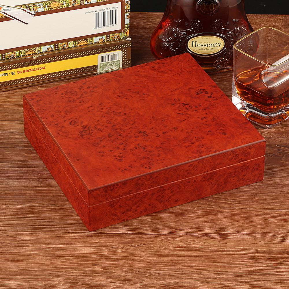 Cedar Wood Travel Humidor Cigar Box Portable Cigar Case W/ Hygrometer Humidifier Cigar Humidor Box For COHIBA Cigars enlarge