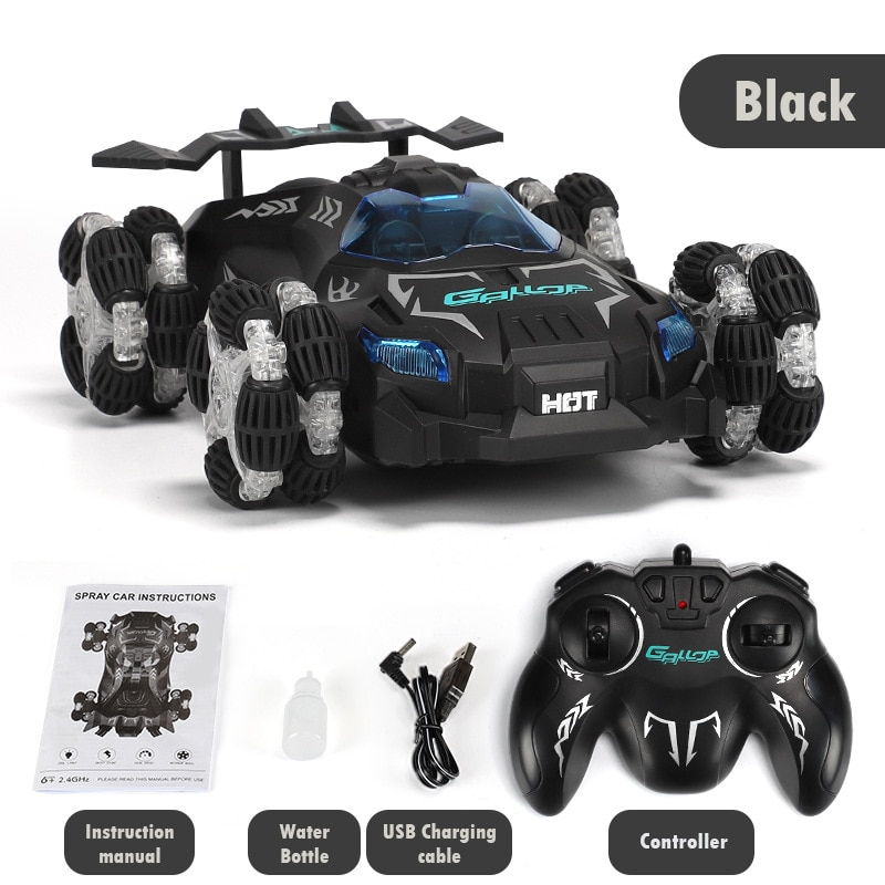 Children Electric Rechargeable Toy Car with Music Light 2.4g Remote Control High-speed Drift Spray Racing Car remote control car enlarge