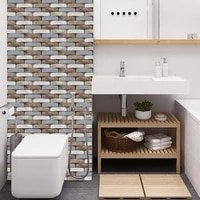 12pcs 3d wall tile sticker kitchen bathroom self adhesive decor waterproof 30x30cm12 x 12 used for tv background bedroom wall