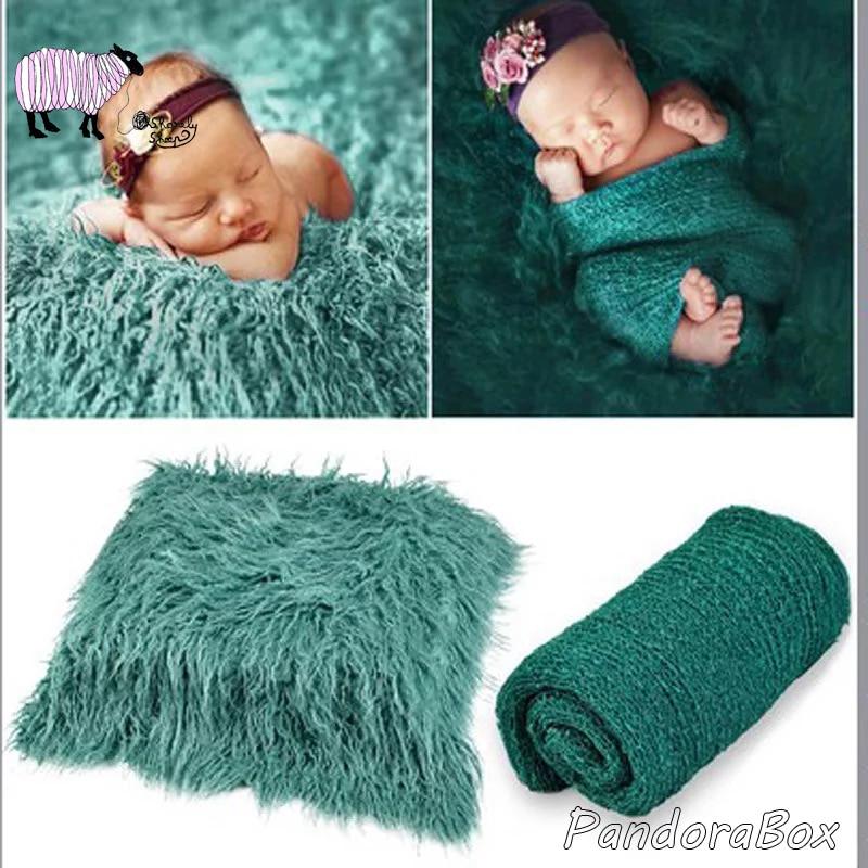 Newborn Photography Props Wrap Baby Boy Girl Photo Shoot Faux Fur Blanket Wraps Set fotografia Accessories Baby Shooting Prop