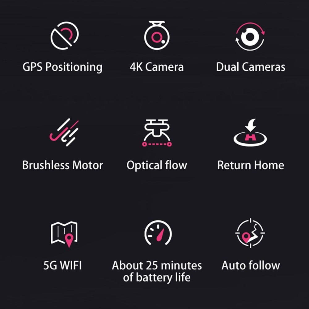 C18 Mini Drone 5G WiFi FPV Foldable RC Quadcopter Brushless Motor 6 Axis 4CH GPS Drone with 4K HD Camera for Kids Adults Gift enlarge
