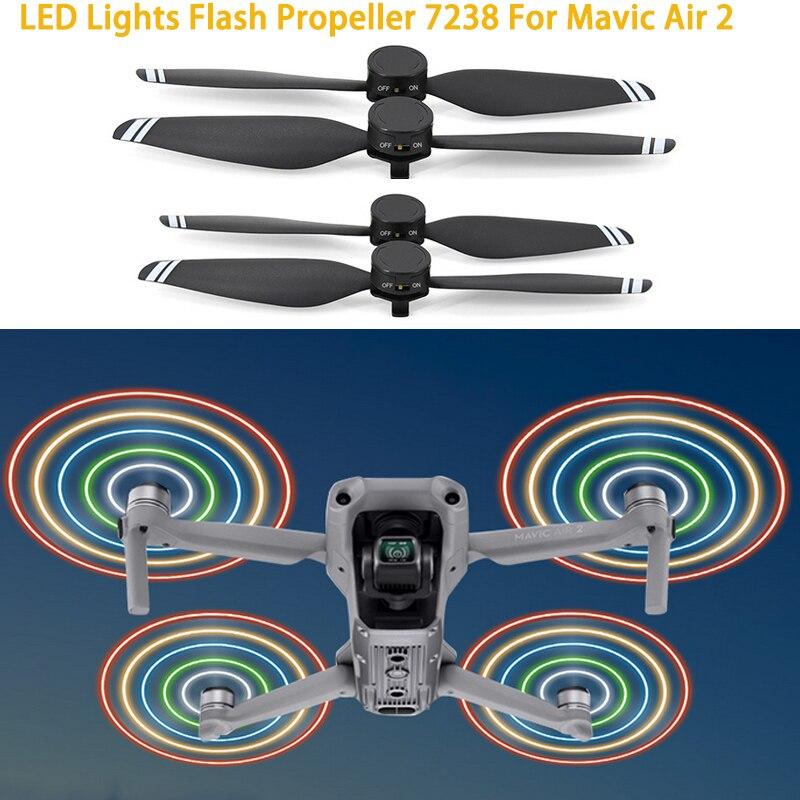 STARTRC-7238 ضوء فلاش LED ، مروحة طيران ليلية قابلة لإعادة الشحن لـ DJI Mavic Air 2 ، ملحقات المروحة بدون طيار