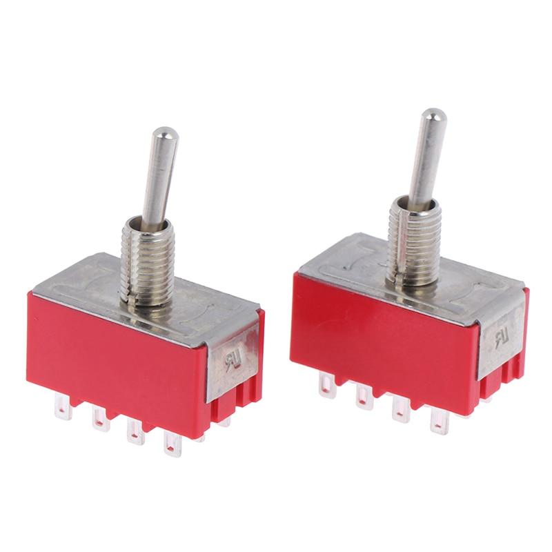 2 uds. Interruptor de miniinterruptor rojo de 12 Pines de 2/3 posiciones MTS - 402,MTS - 403