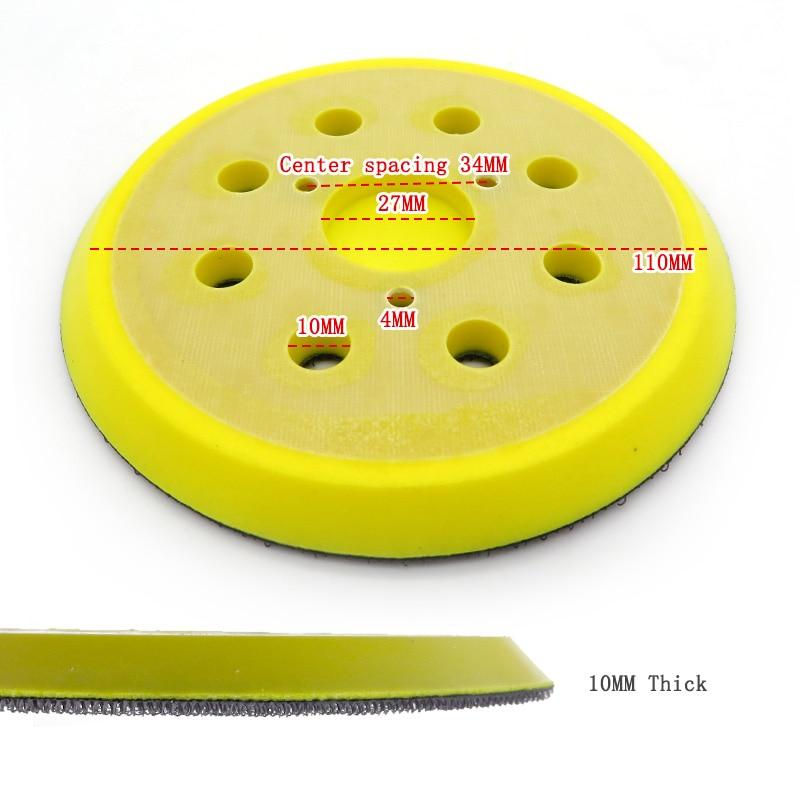 1ks 5palcová 125mm 8otvorová záložní brusná podložka suchý - Brusné nástroje - Fotografie 6