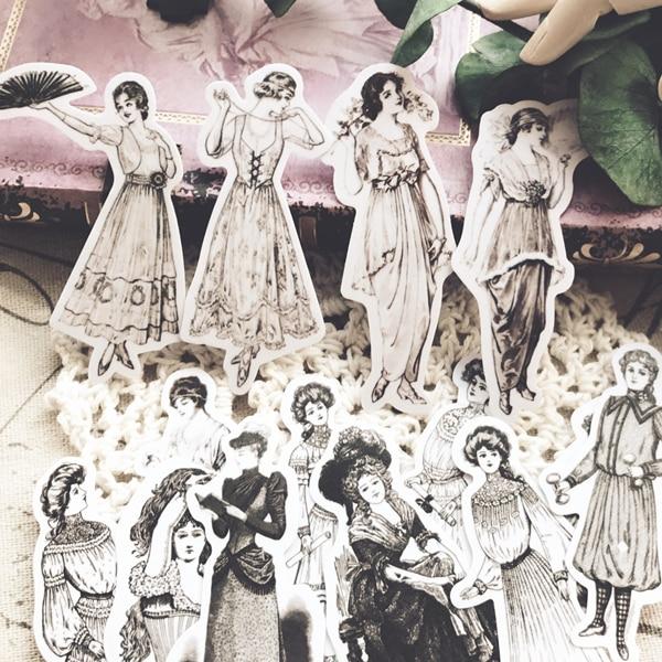 18-unids-lote-kawaii-papeleria-pegatinas-vintage-de-dama-de-moda-diy-scrapbooking-album-diario-planificador-feliz-pegatinas-diario