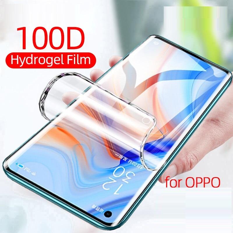Case For OPPO Reno2 Z F Hydrogel Film  Screen Protector 9H Premium Protective Film Not Tempered Glas