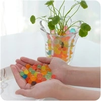 Boules de gelee magique en cristal Hydrogel  500 pieces en forme de perles  culture de boue  jouets pour enfants  decoration de mariage maison en pot