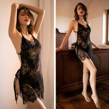Porno Erotic Underwear Suit Sexy Lingerie Babydoll Female Costume Lace Dress Apparel Sexy Lingerie f