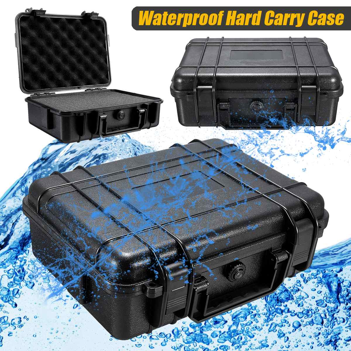 7 Sizes Waterproof Hard Carry Case Bag Tool Kits with Sponge Storage Box Safety Protector Organizer