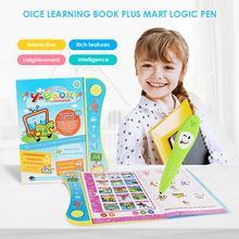 Livre électronique pour enfants, apprentissage précoce, avec lettres anglaises, livre de lecture avec stylo pour animaux colorés