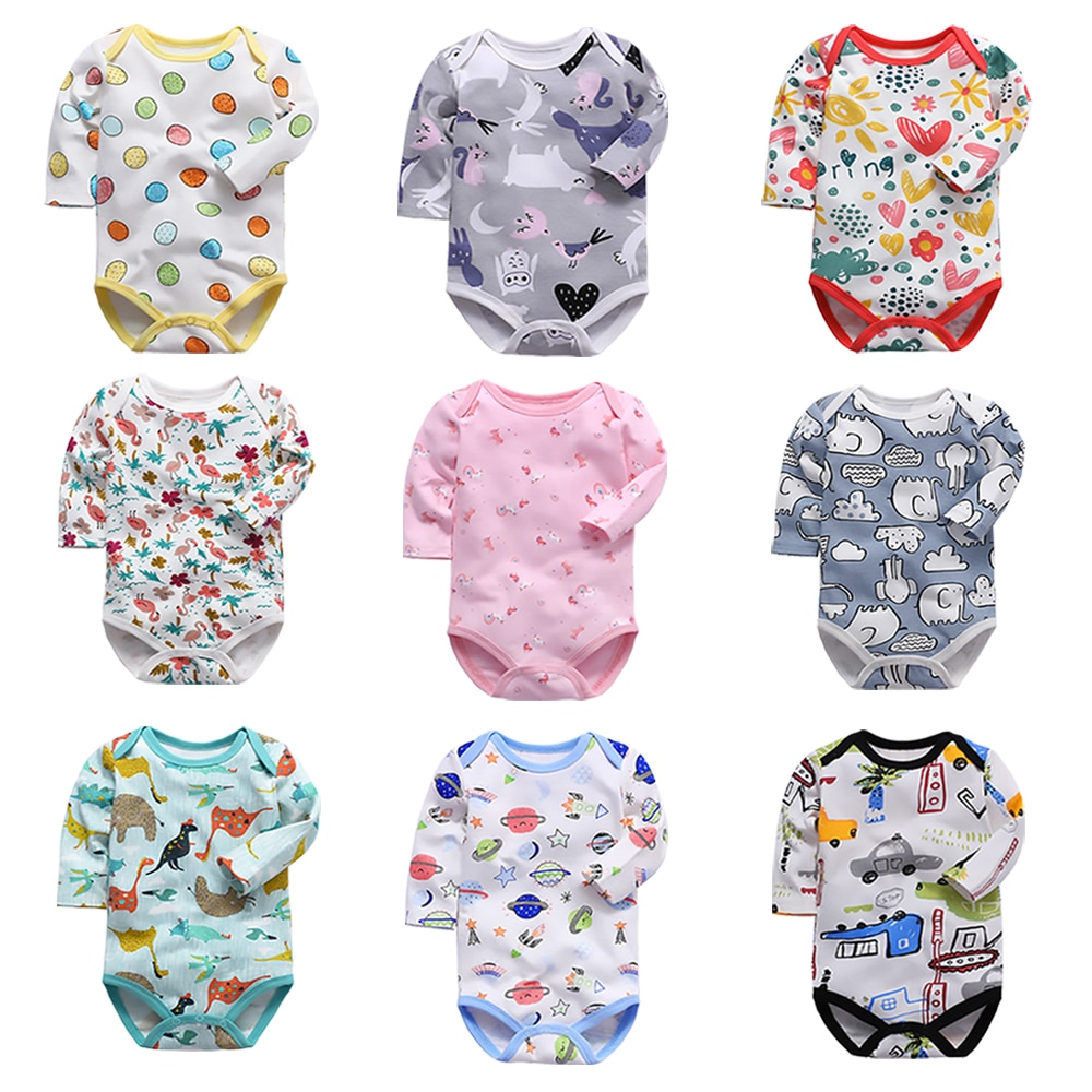newborn bodysuit baby babies bebes clothes long sleeve cotton printing infant clothing 1pcs 0-24 Mon