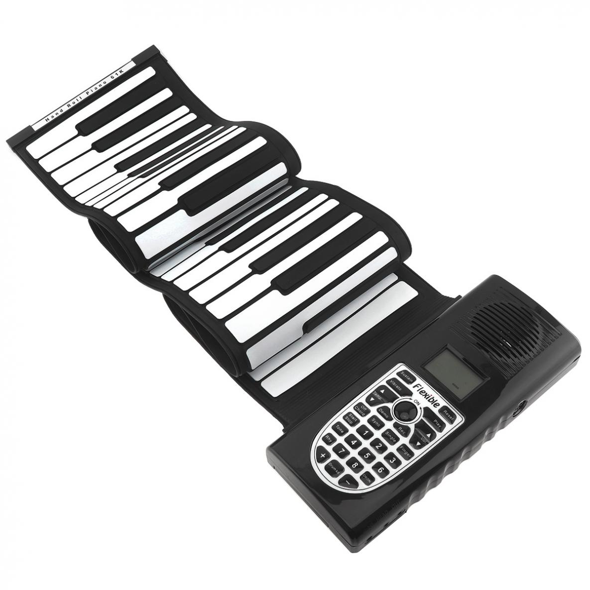 61 Keys USB MIDI Output Roll Up Piano Electronic Portable High Quality Silicone Flexible Keyboard Organ Built-in Speakers enlarge