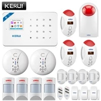 KERUI     systeme dalarme de securite domestique sans fil W18  wi-fi  GSM  controle a distance avec application
