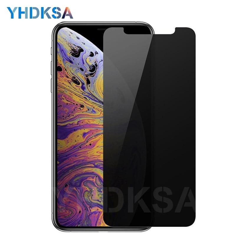 Anti spy vidro temperado para iphone x xs 11 pro max privacidade protetor de tela para iphone 8 7 6 s plus 5 5S se película protetora