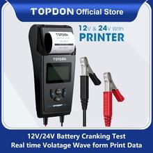 Topdon автомобилей Батарея Тесты er BT500P с принтом 12V 24V автомобиль Батарея Тесты er с аккумулятор для принтера Батарея нагрузки Тесты для мото авто заряд