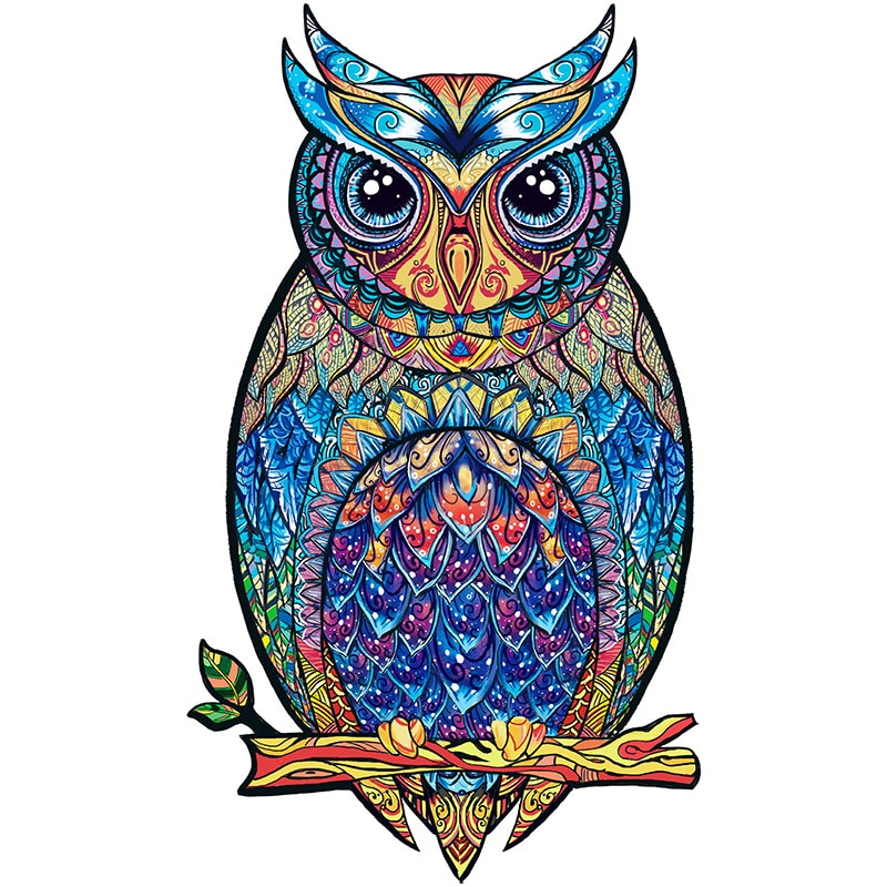 Owl Wooden Puzzle For Adults Children DIY  Puzzles Each Piece Is Animal Shaped Christmas Gift Jigsaw Dropshipper