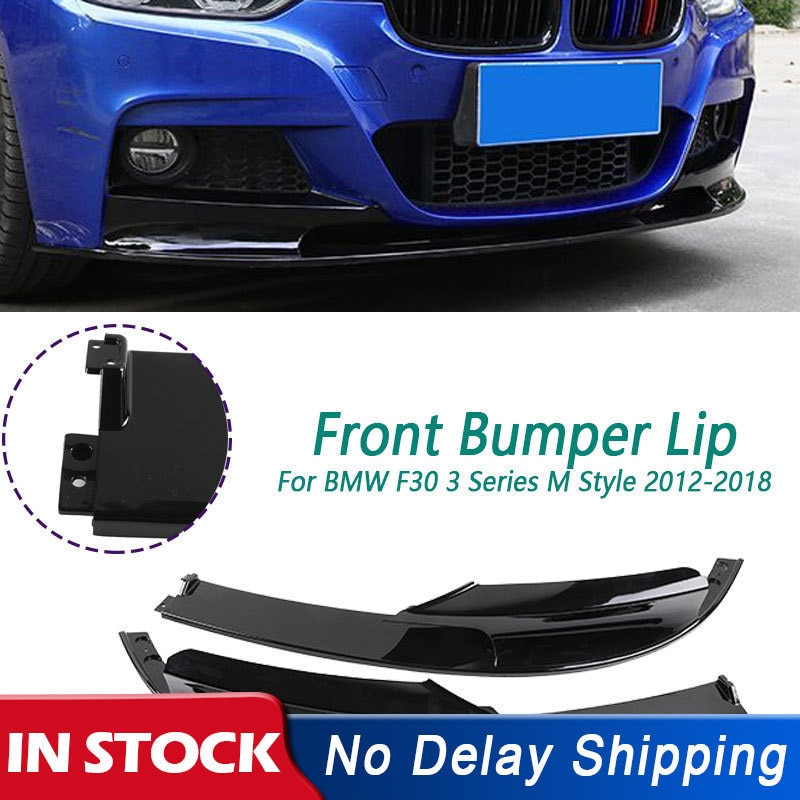 2 pçs amortecedor dianteiro lábio capa superfície spoiler corpo para bmw f30 3 series m estilo 2012-2018 apenas para a versão de esportes