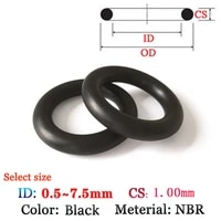 cs 1 0mm fluoro rubber o ring 50pcs washer seals plastic gasket silicone ring film oil and water seal gasket nbr material ring