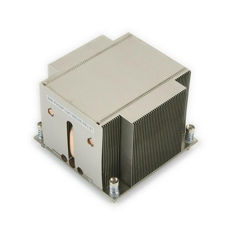 Disipador de calor pasivo SNK-P0038P 2U (LGA1356) SNK-P0038P disipador de calor CPU para procesador Xeon serie 5500