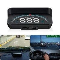 Car Digital Projector M8 Hud Obd2 Overspeed Warning System Voltage Obd Universal Rpm Voltage Alarm Head Up Display