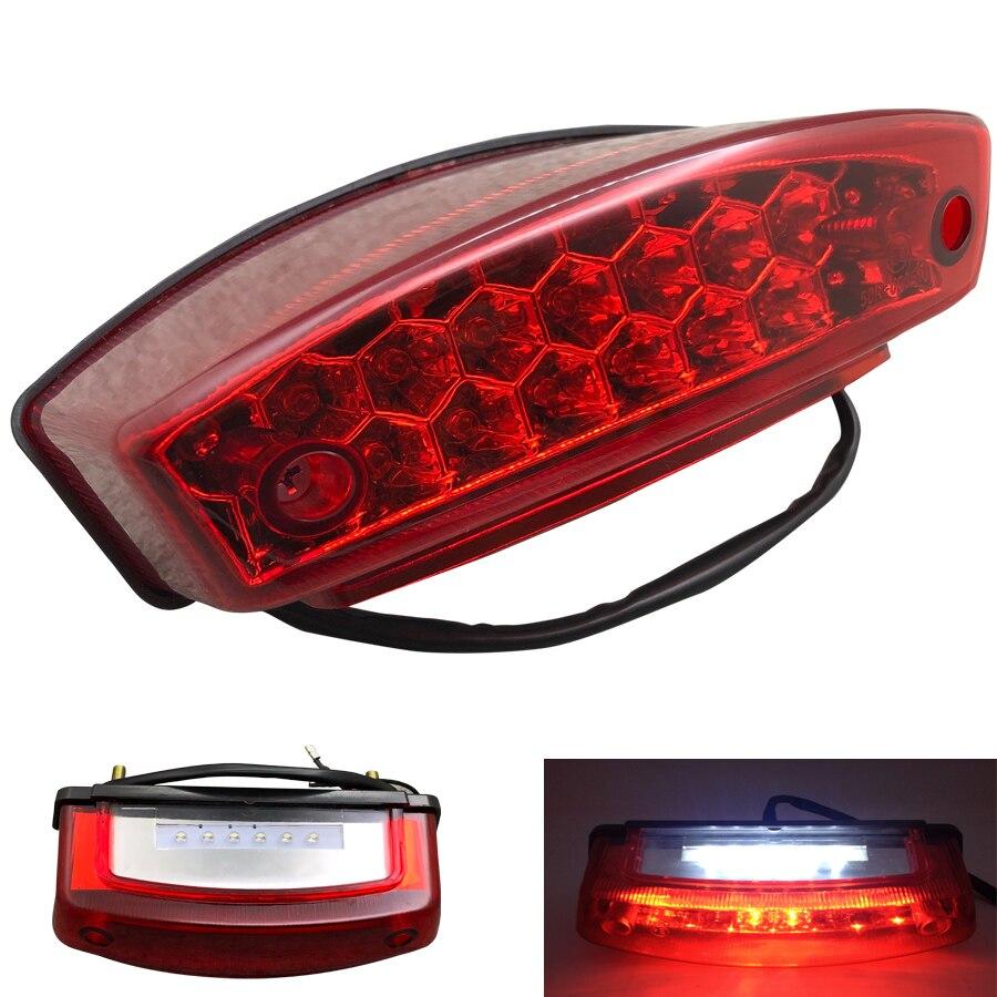 Мотоциклетный задний светильник, универсальные аксессуары для мотоциклов, светодиодный задний тормозной светильник, лампа для Honda Suzuki ATV Dirt Bike