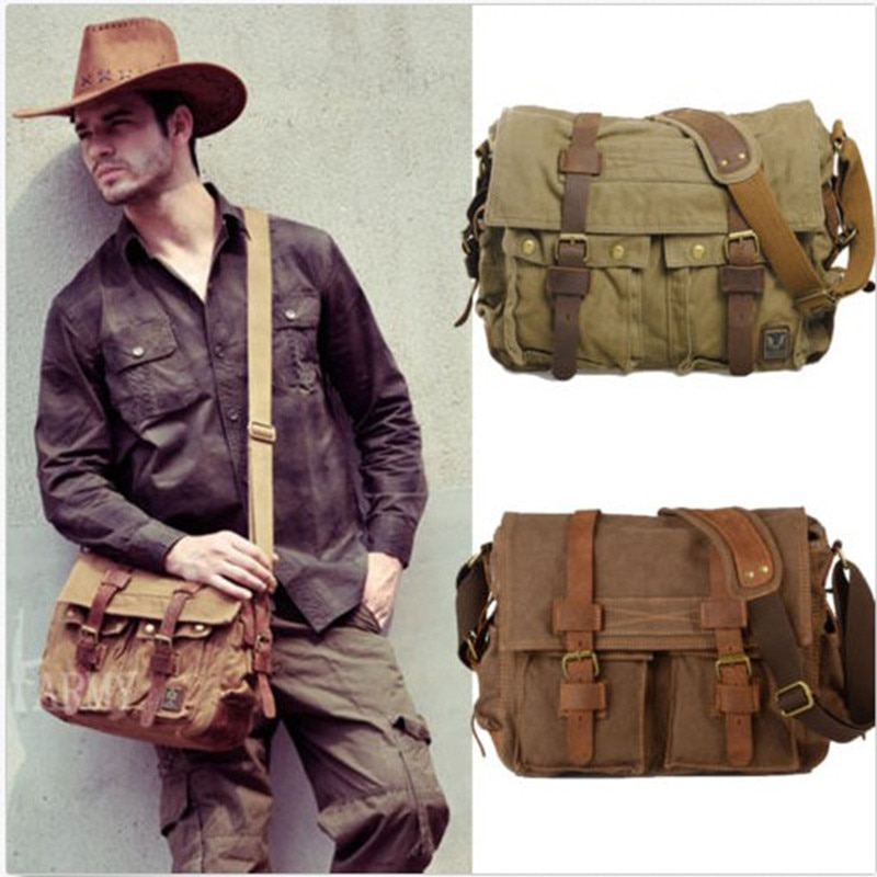 Canvas Leather Men Messenger Bags I AM LEGEND Will Smith Big Satchel Shoulder Bags Male Laptop Briefcase Travel Handbag