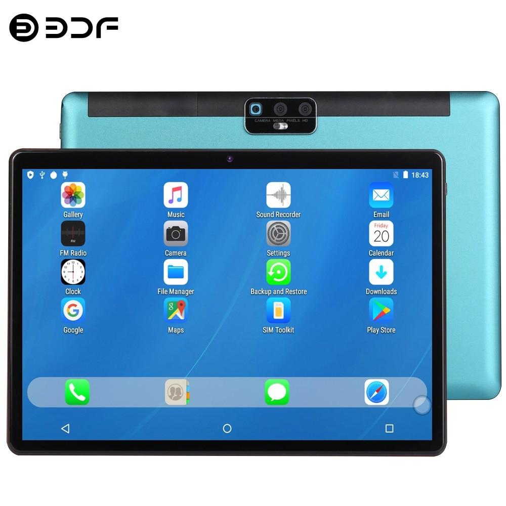 2021 New Arrivals 10.1 Inch Tablet Pc Android 9.0 Octa Core 2GB RAM 32GB ROM 4G Network Phone Call AI Speed-up Tablets GPS Wifi