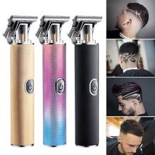 T9 hair trimmer USB Clipper Cordless Men Hair Cutting Machine Beard trimmer 0mm razor shaver Electri