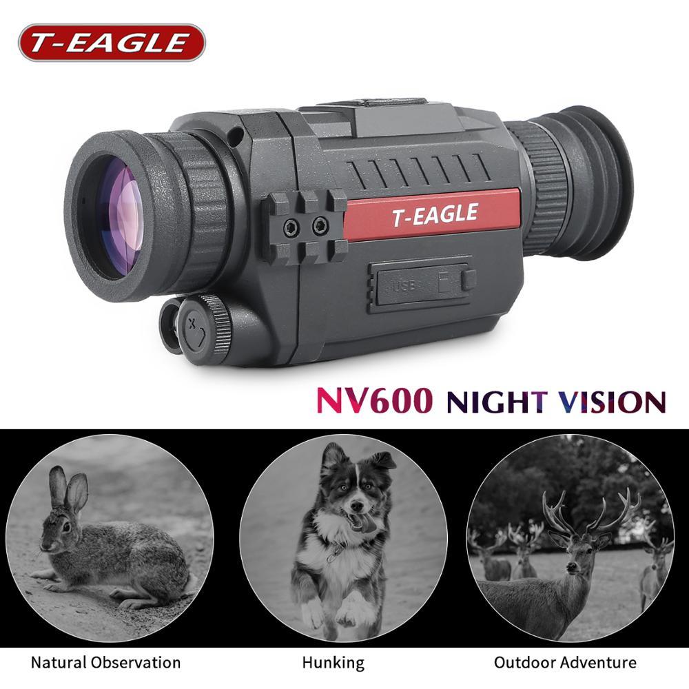 NV600 Infrared Digital Night Vision Monoculars with 8G TF card full dark 5X35 200M range Hunting Monocular Night Vision Optics
