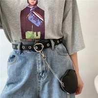new metal belt bag for women luxury designer brand punk heart pin buckle waist strap jeans dress female decoration waistband