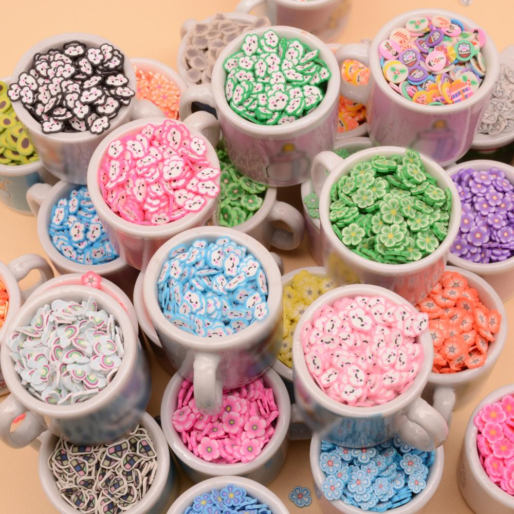 Bolas de arcilla polimérica de nube de conejo, 10g, para manualidades DIY, accesorios de relleno de barro, decoración artística para uñas