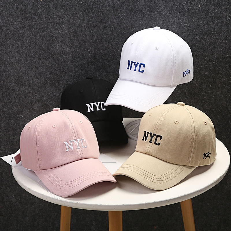 Embroidered letters couple Baseball Cap Unisex Cotton Outdoor Sun Hat Adjustable Hip Hop Caps Classic Women Panel Sport Hat