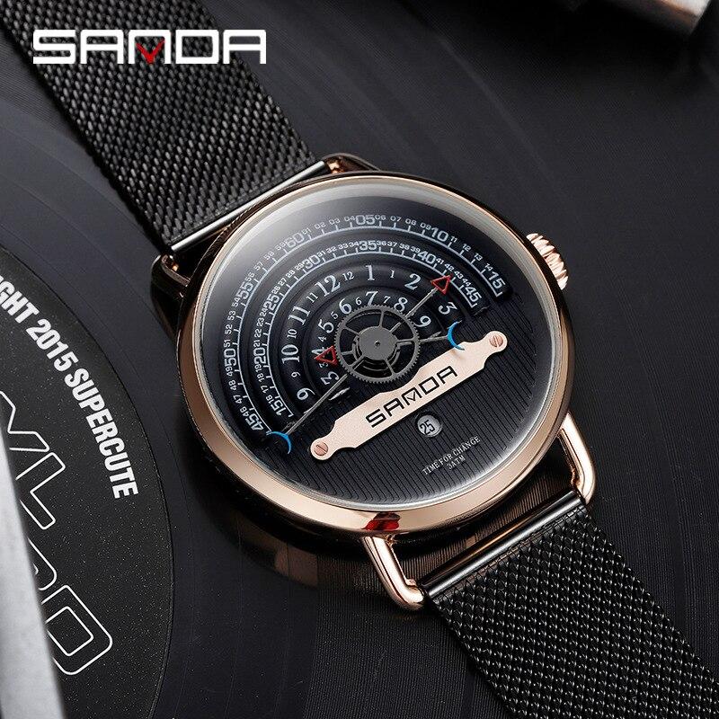 Relojes creativos de moda para hombre, reloj de pulsera de cuarzo con esfera grande y personalidad, relojes de pulsera para hombre, fabricantes Relogio Masculino 2019