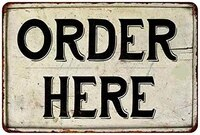 order here metal plaque vintage tin sign wall decor bar pub club cave decorative12x8 inches